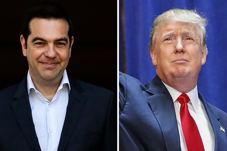 Tsipras se refiere a Turquía en rueda de prensa con Trump