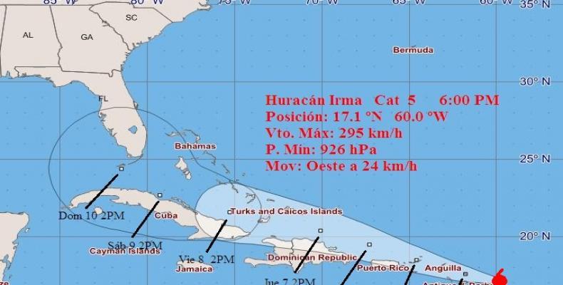 Sancti Spíritus en fase informativa por amenaza de huracán Irma