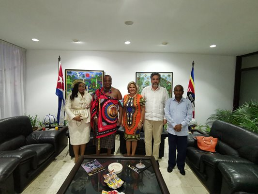 Intense agenda on official visit of the King of Eswatini to Cuba